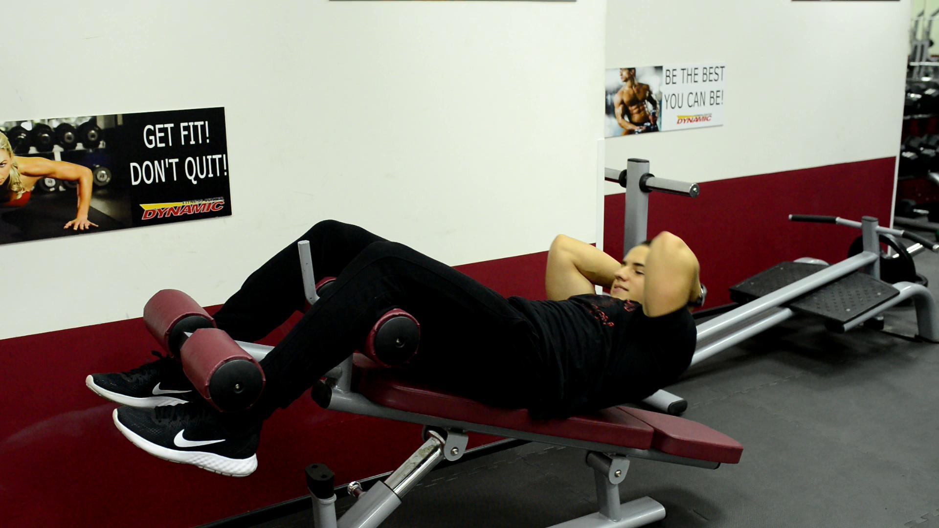 Извиване на тялото встрани / Barbell side twist / 3x15